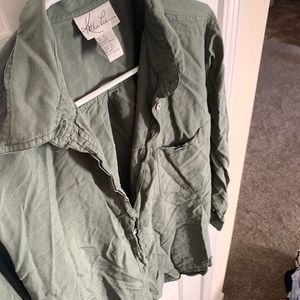 Olive Green Button Down Cardigan - Size 12 (NWOT)